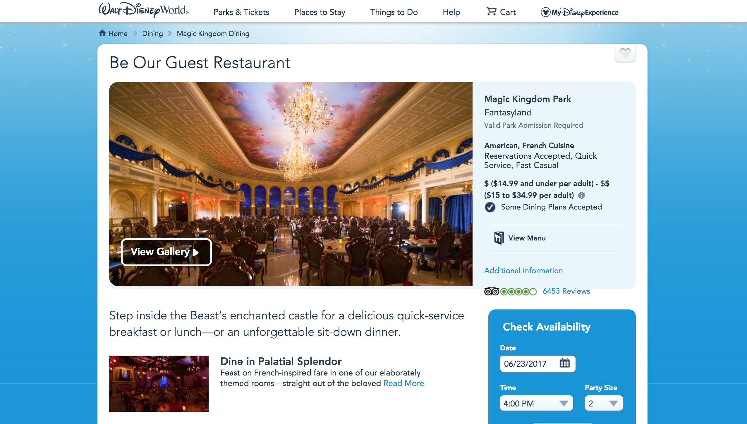 Use disney's web app to book the hardest reservations to get