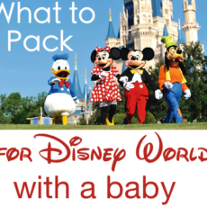 What to Pack for a Baby at Disney World (Packing List)